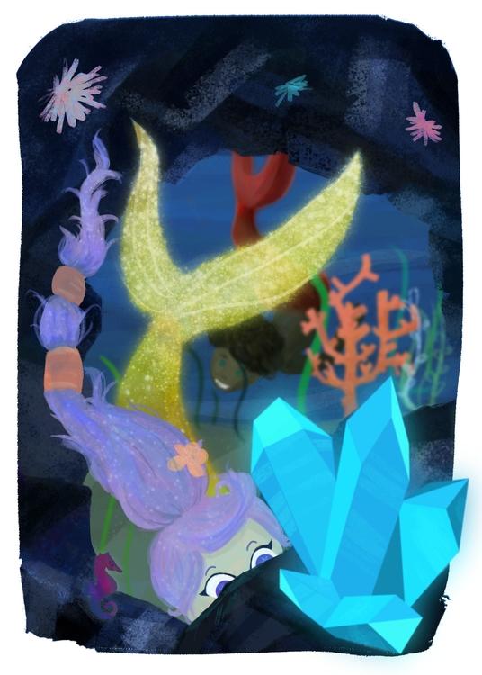 Aqua Marine - illustration, kidlitart - jesssketches   ello