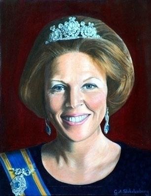 Beatrix - painting, queen - gemmastekelenburg | ello