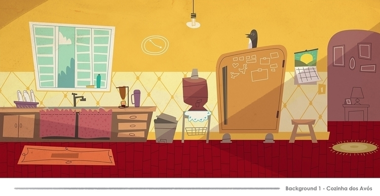 Backgrounds kitchen - illustration - jjneto | ello
