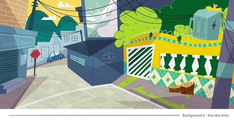 Background view street - illustration - jjneto | ello