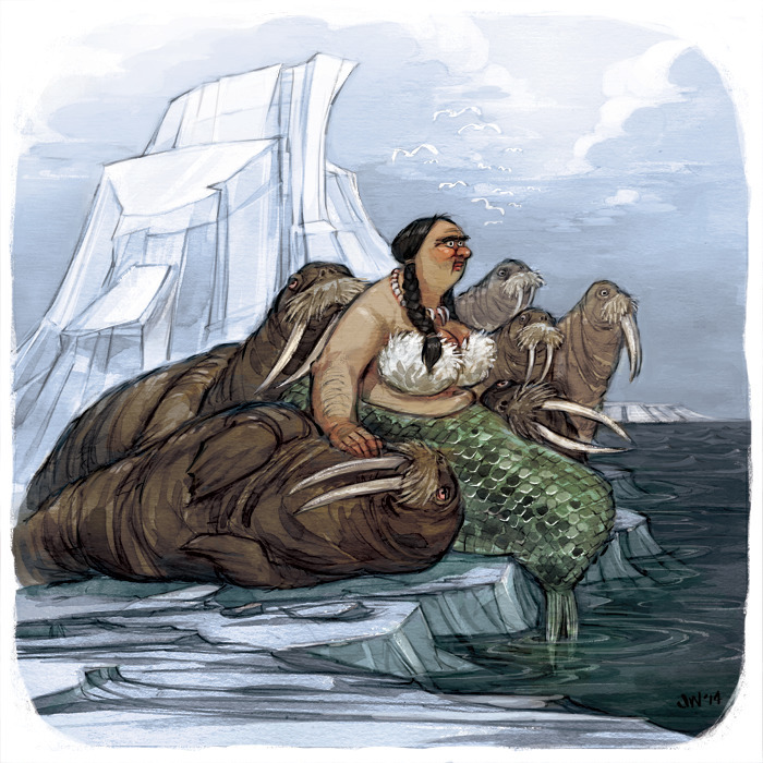 illustration, watercolor, walrus - jessicawarrick   ello