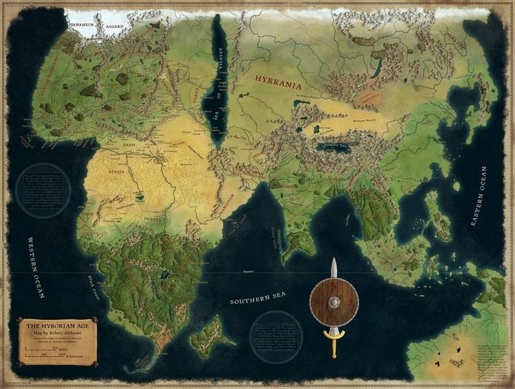 Hyborian Age - map, maps, fantasymap - robertaltbauer   ello