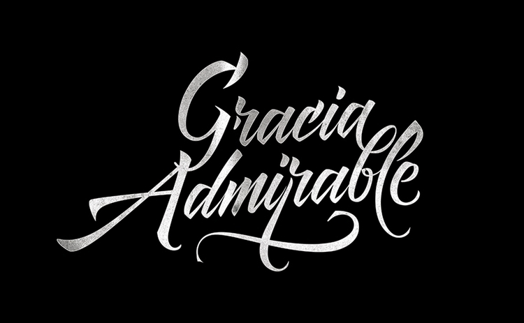 Gracia Admirable - lettering, calligraphy - jair-1116 | ello
