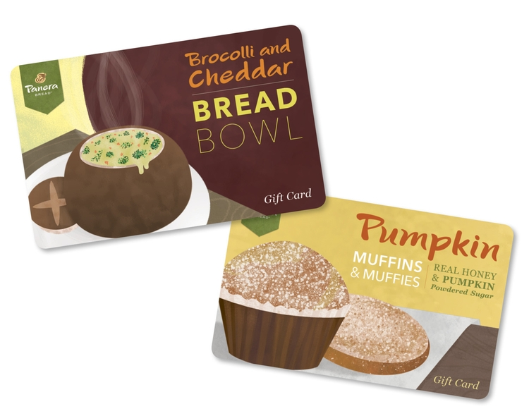 Panera Gift Card Mocks - panera - jesssketches | ello