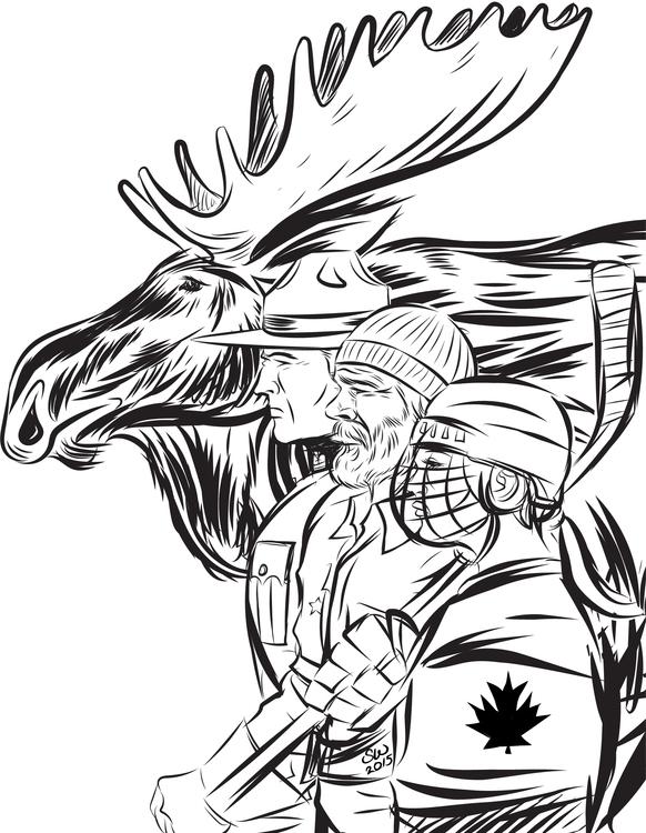 Canadiana, stand guard thee - illustration - scottbrianwoods   ello
