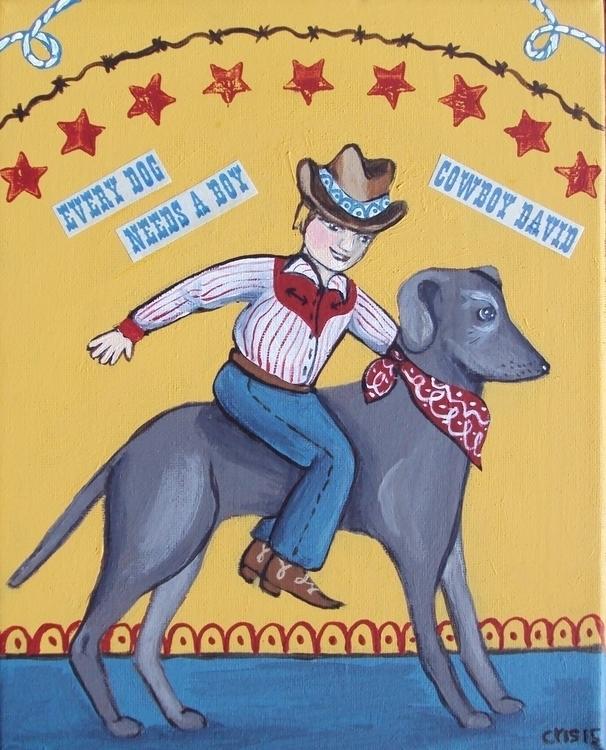 Cowboy David - Commissionpiece, custompainting - cristinegreen   ello