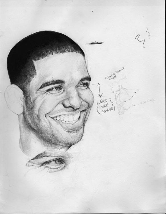 Drake study - drawing, pencilillustration - deantcarter | ello