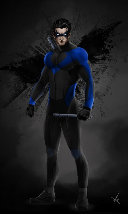 nightwing, illustration, draw - warnergarron | ello