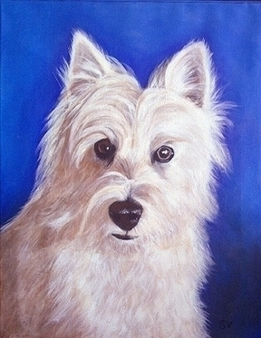 Grace - pet, dog, acrylicpainting - sylverdesign | ello