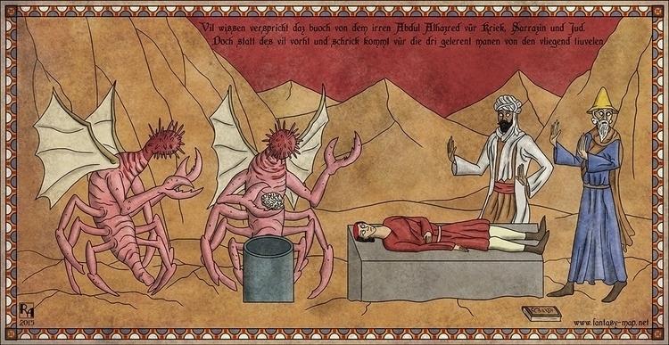 Flying Devils - illustration, lovecraft - robertaltbauer | ello