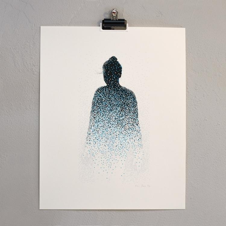 Wee hours print - geometric, blue - homeroma | ello
