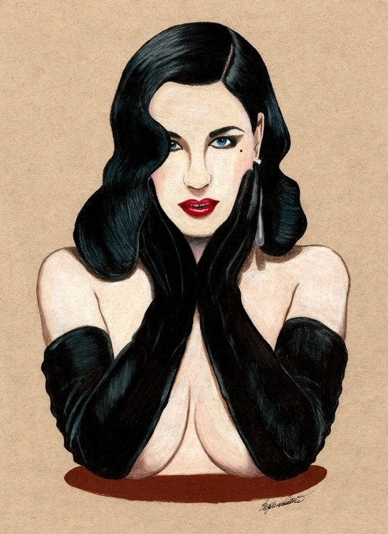DITA - illustration, drawing, ditavonteese - sugarrrpea | ello