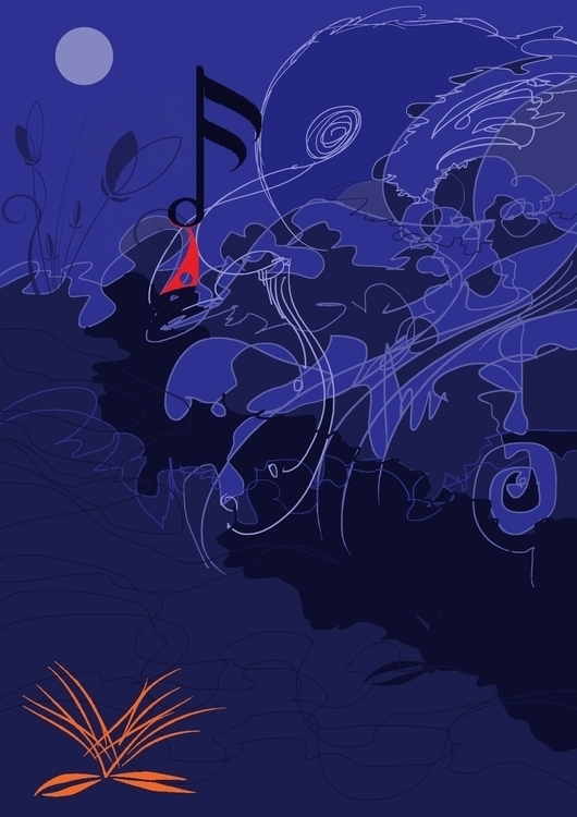 music - painting, digitalart, conceptart - sunnyefemena | ello