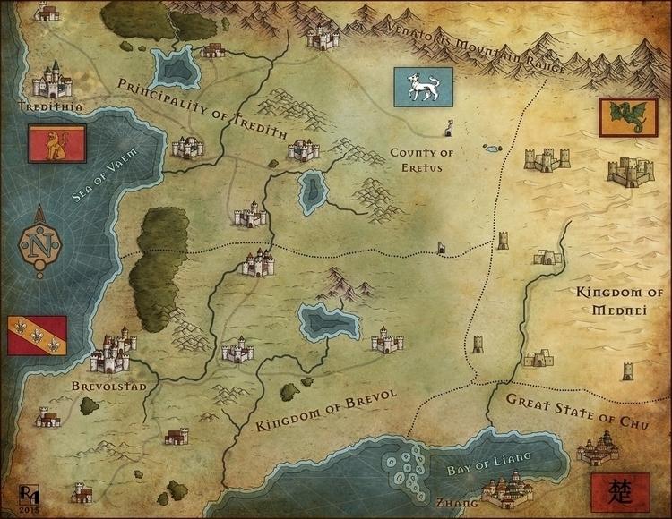 South Kuravos - fantasymap, maps - robertaltbauer | ello