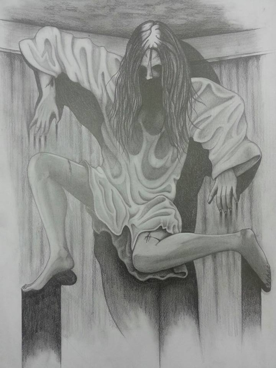 Possessed girl - drawing - steven-8489 | ello