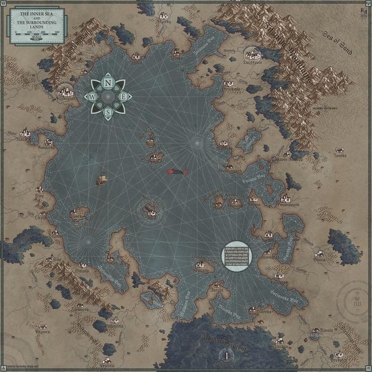 Sea - map, maps, cartographer, fantasymap - robertaltbauer | ello