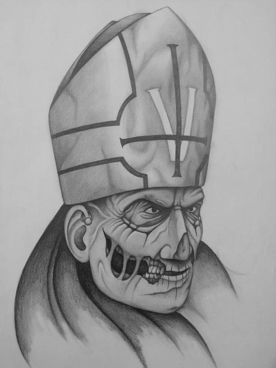 Satanic Pope - drawing - steven-8489 | ello