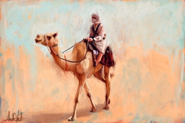 Digital Portrait Man Bedouin ri - kadisart | ello