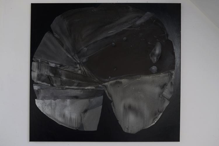 big stone (1,50m) Oil painting  - kejto | ello