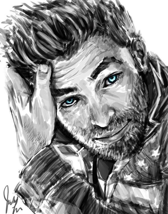 Chris Pine Digital Sketch - chrispine - candaceaprillee | ello
