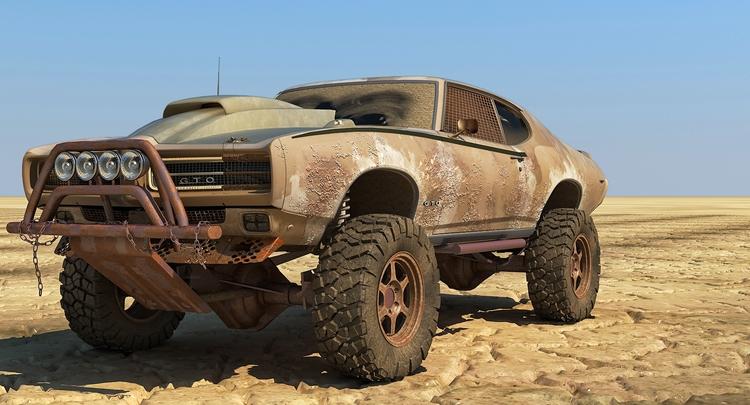 Pontiac Judge Extreme Roads - illustration - remytrapp | ello