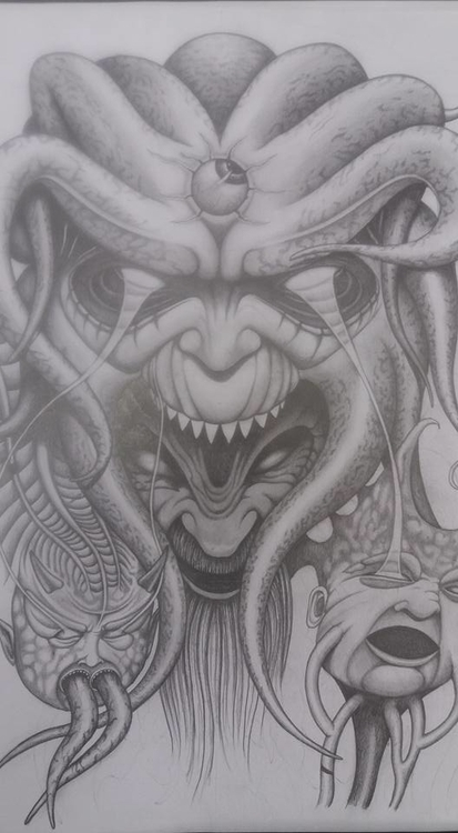 Demon faces2 - drawing - steven-8489 | ello