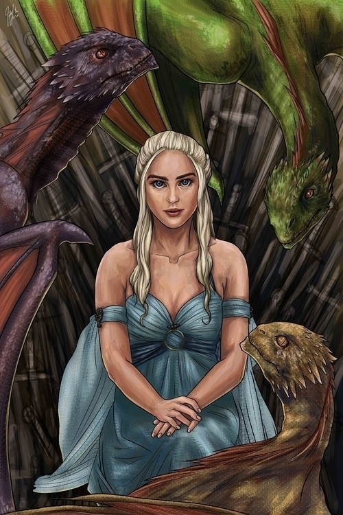 Game Thrones - Dragon Queen - gameofthrones - candaceaprillee | ello