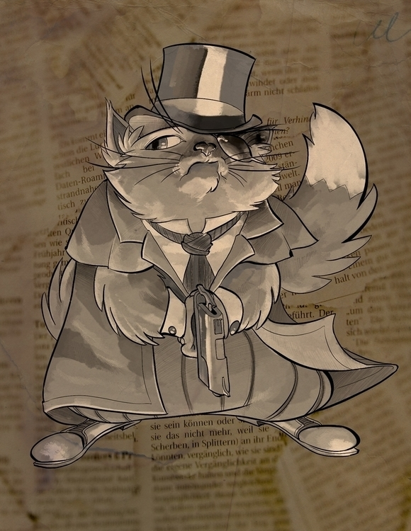 Detective Gus case - illustration - kevinallen-5044   ello