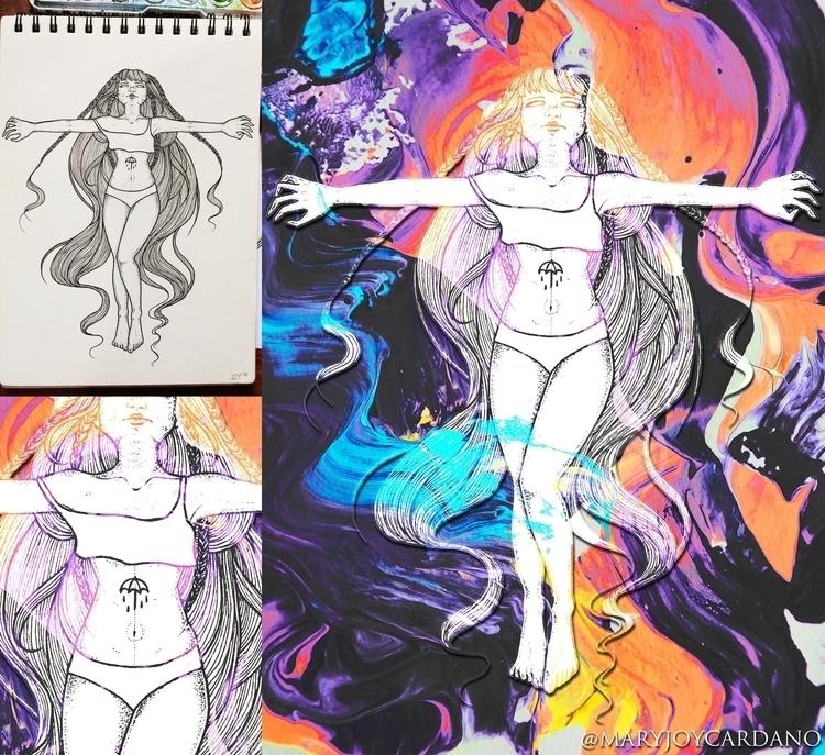 Drown - illustration, fanart, digitalart - maryjoycardano | ello