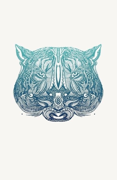 illustration, ink, tiger, drawing - devangari-8254   ello