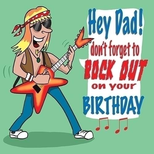 Birthday Rock Dad - illustration - paulwooldridge | ello
