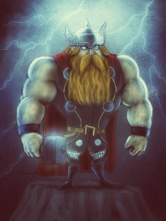 played iPad Procreate - thor, ThealmightyThor - jaakkomehtala | ello
