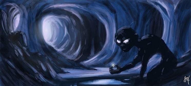 Speed Paint - Gollum - dailydoodle - jasonmartin-1263 | ello