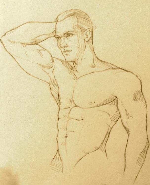 pose_03 - drawing - naazunutty | ello