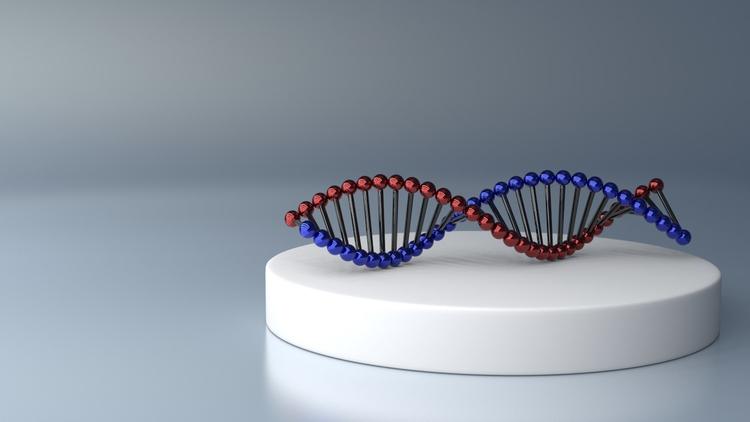 DNA - dna, 3d, digitalart - camomiles-1144 | ello