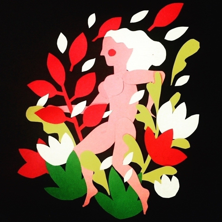 nude, girl, run, running, plants - stephaniekubo-8873 | ello