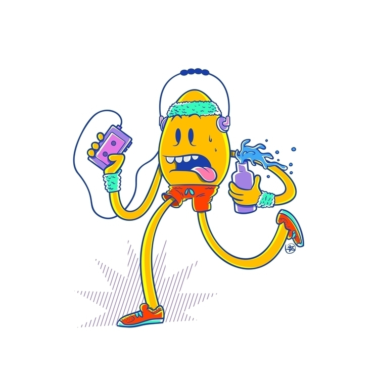 Eggnacio - egg, running, jogging - nicosarmiento | ello