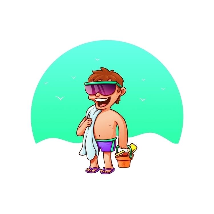 Summer Boy - vector, kid, summer - nicosarmiento | ello