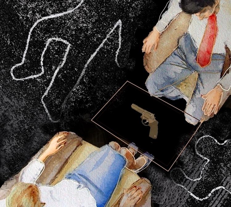 Death Relationship - illustration - ameliarosales | ello