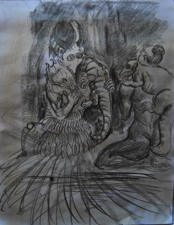 Lemuria - illustration, painting - wickedbastet1982   ello