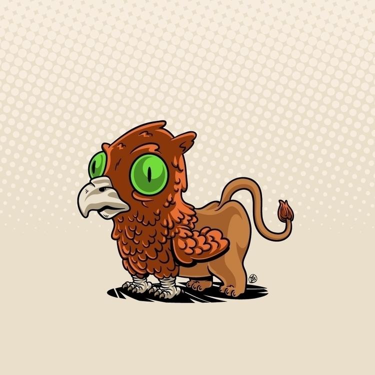 mitic, animal, vector, bird, lion - nicosarmiento   ello