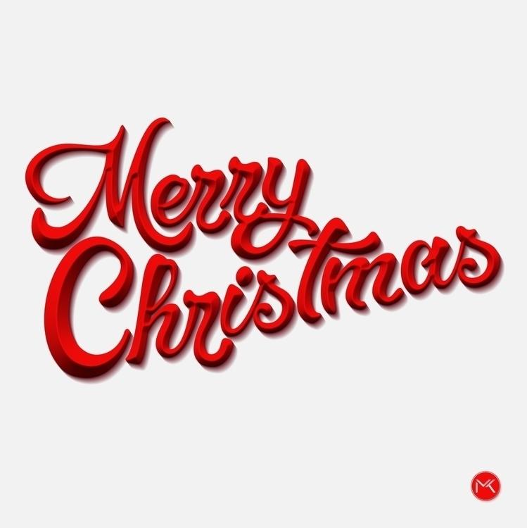 Merry Christmas - lettering, typography - marketa_konta | ello