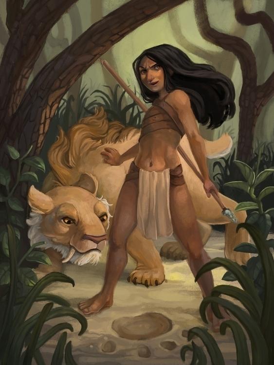 Young Hunters - fantasy, prehistoric - kptheillustrator | ello