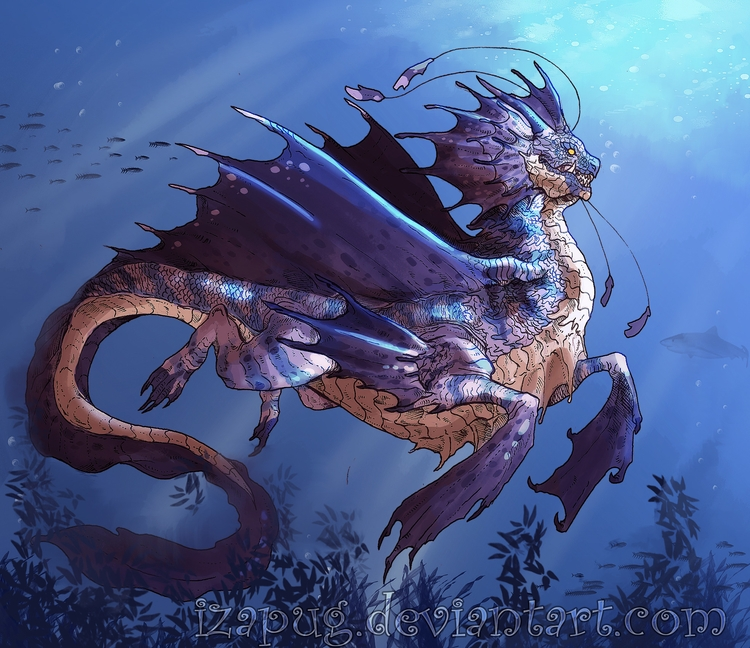 seabeast, monster, dragon, dragons - izapug | ello