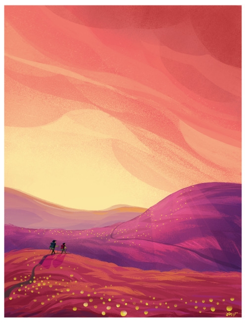 Happy Trails - illustration, digitalart - mariavitan   ello