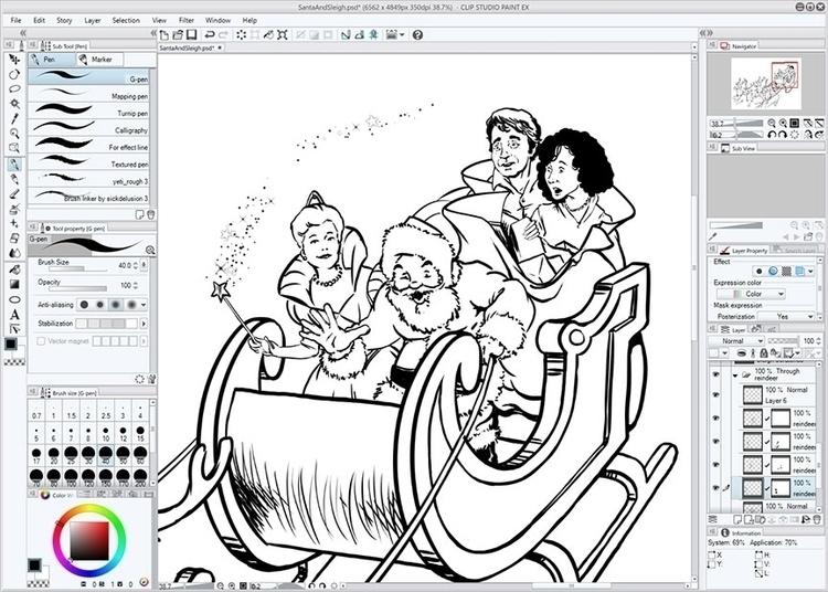 Drawing RiffTrax Santa Claus - MST3K - jasonmartin-1263 | ello