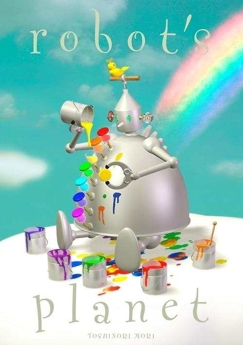 illustration robot Japanese ill - guraguri | ello