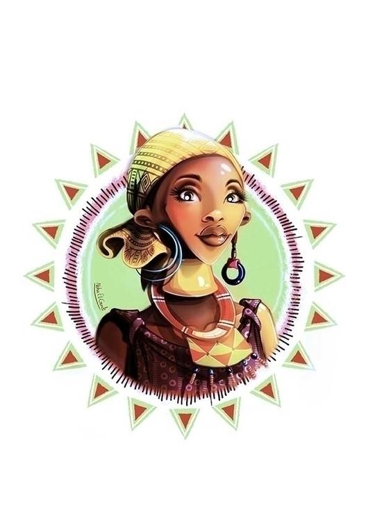 African Lady - illustration - noha-el-gendi | ello
