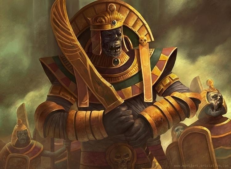 Mummy Warrior - illustration, painting - montjart | ello