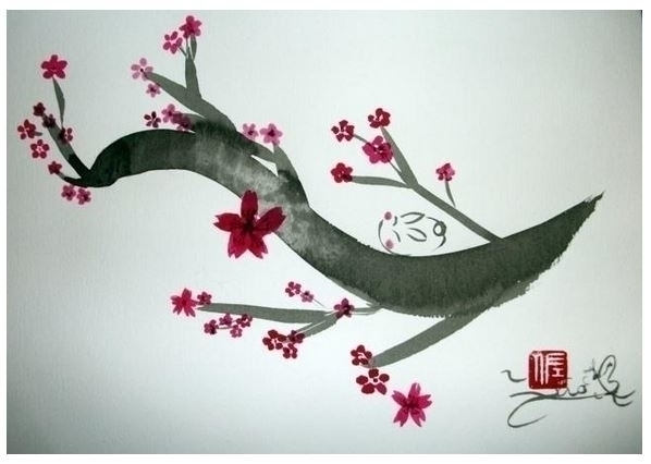 Calm - painting, illustration, ink - sao-5808   ello